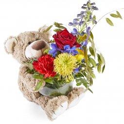 Ayıcıklı Mevsim Çiçekleri