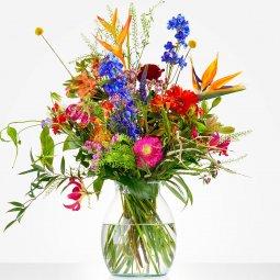 Bouquet: Color explosion; excl. vase
