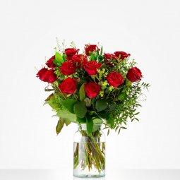 Kırmızı güllerden buket (Vazosuz)
