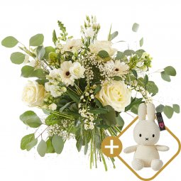 Bouquet: Loving white; includint a white Miffy for