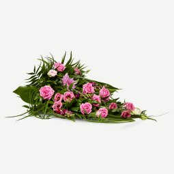 Classic funeral spray - pink