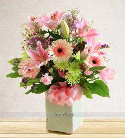 Pembe Karışık Çiçek Aranjmanı