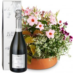 Loving Outdoor Flower Bowl with Prosecco Albino Ar