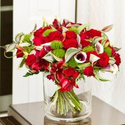 Kırmızı Güllerden Lüks Buket
