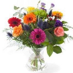 Mixed colours bouquet, excl. vase
