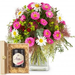Natural Summer Bouquet with Swiss blossom honey