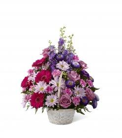 Sepette Pembe Çiçekler