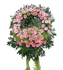 Pembe Gerberalı Cenaze Çelengi