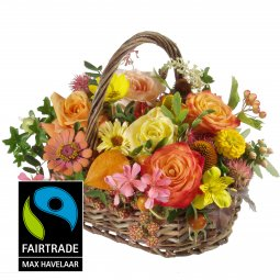 Picturesque Seasonal Basket with Fairtrade Max Hav