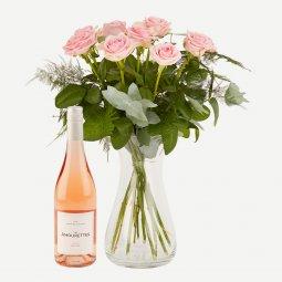 Pink roses with Les Amourettes Rosé