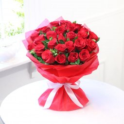 RADIANT RED ROSE BOUQUET