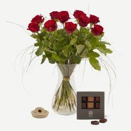 Kırmızı Gül Buketi ( Çikolata ile)