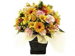 Seasonal Arrangement in Yellow and Orange