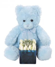 Special Occasion Arrangement with bear