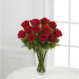The Long Stem Red Rose Bouquet by FTD® - VASE INCL