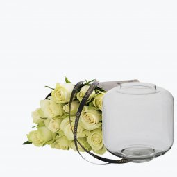 White Roses With A Vase